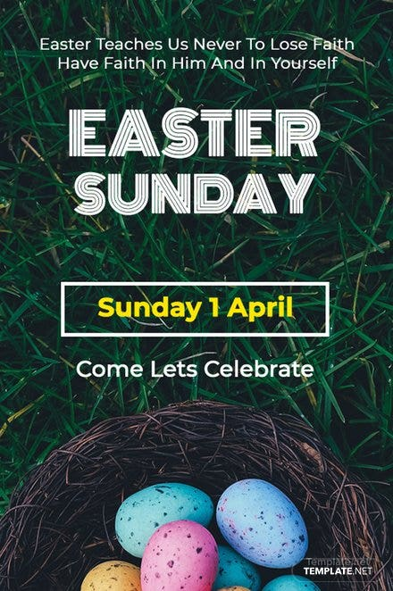 Easter Sunday Tumblr Post Template