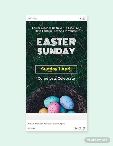 Free Easter Sunday Tumblr Post Template