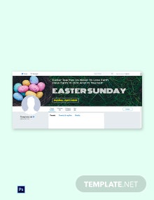 Free Easter Sunday Twitter Header Cover Template