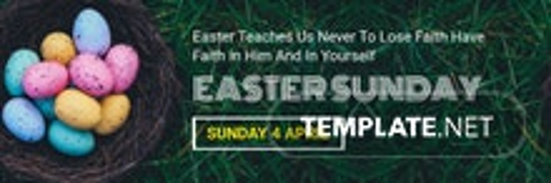 Easter Sunday Twitter Header Cover Template