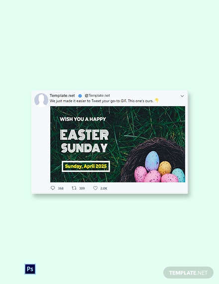 Free Easter Sunday Twitter Post Template