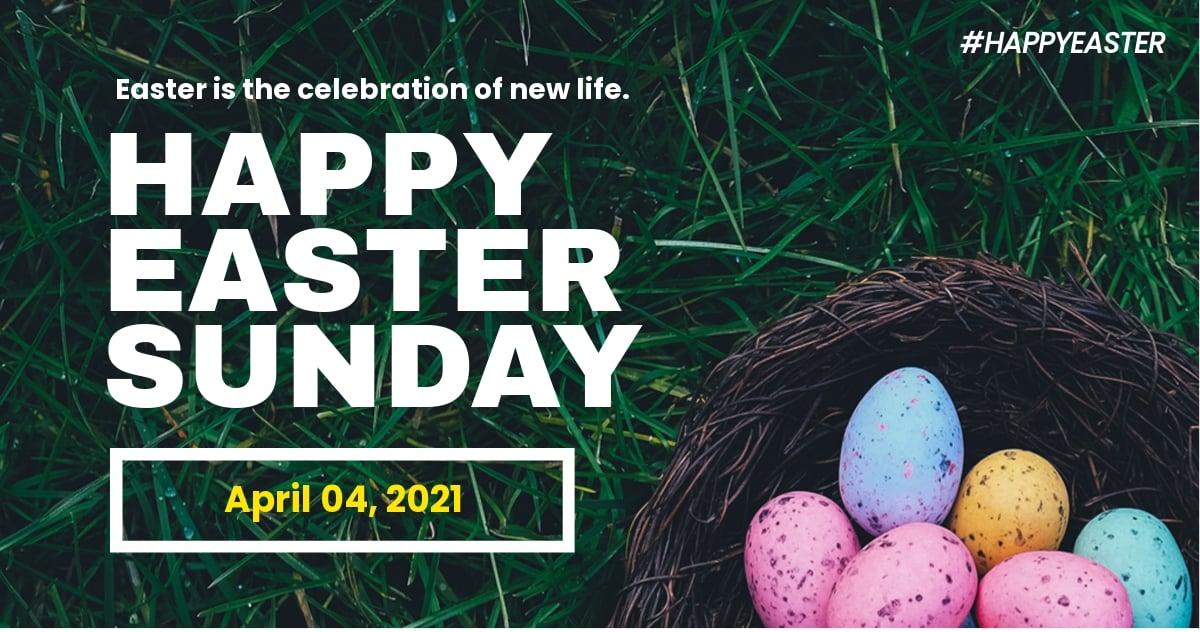 Easter Sunday Twitter Post Template.jpe