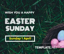 Easter Sunday Twitter Post Template