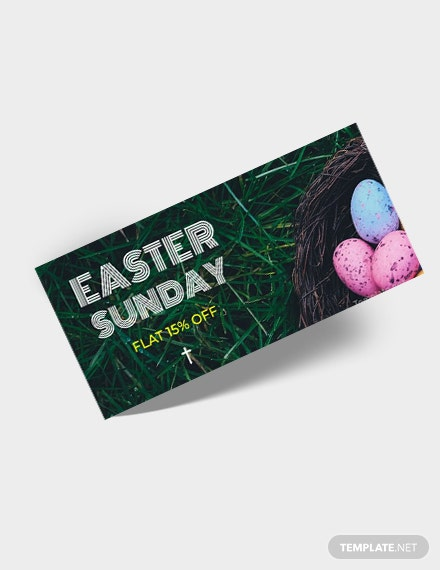 Free Easter Sunday Voucher Template