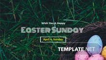 Easter Sunday YouTube Channel Cover Template