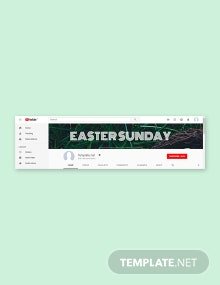 Free Easter Sunday YouTube Channel Cover Template