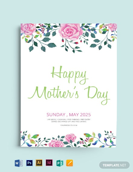 Free Mother's Day Flyer Template