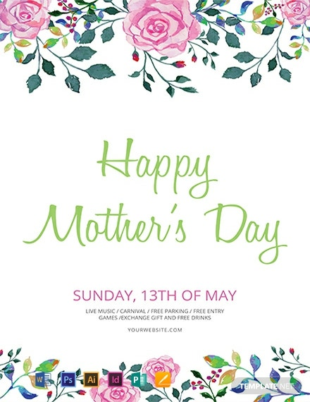 Free Mother S Day Flyer Template