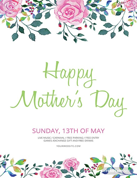 mother s day flyer template 1