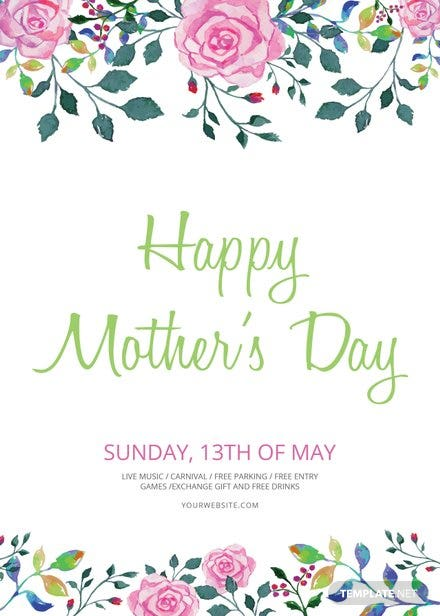 Free Mother\'s Day Flyer Template in Adobe Photoshop, Illustrator ...