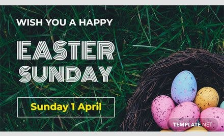 Easter Sunday YouTube Video Thumbnail Template