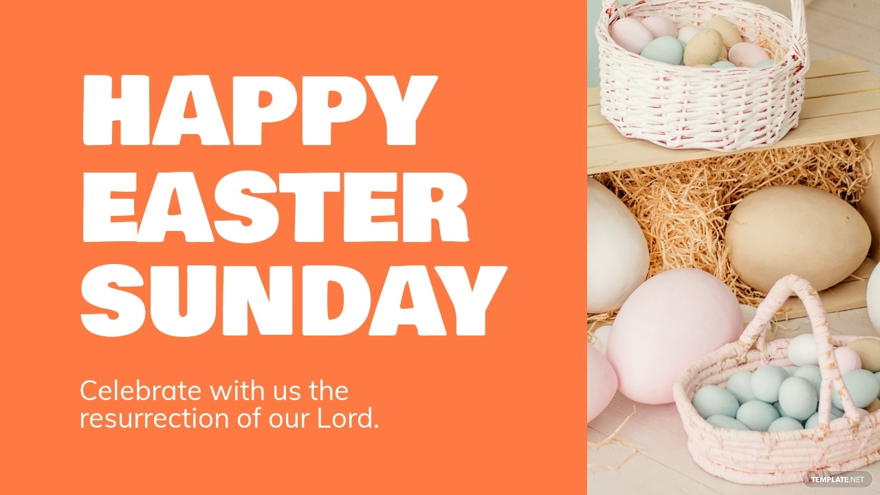 Free Easter Sunday YouTube Video Thumbnail Template