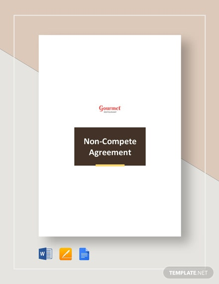 restaurant non compete agreement