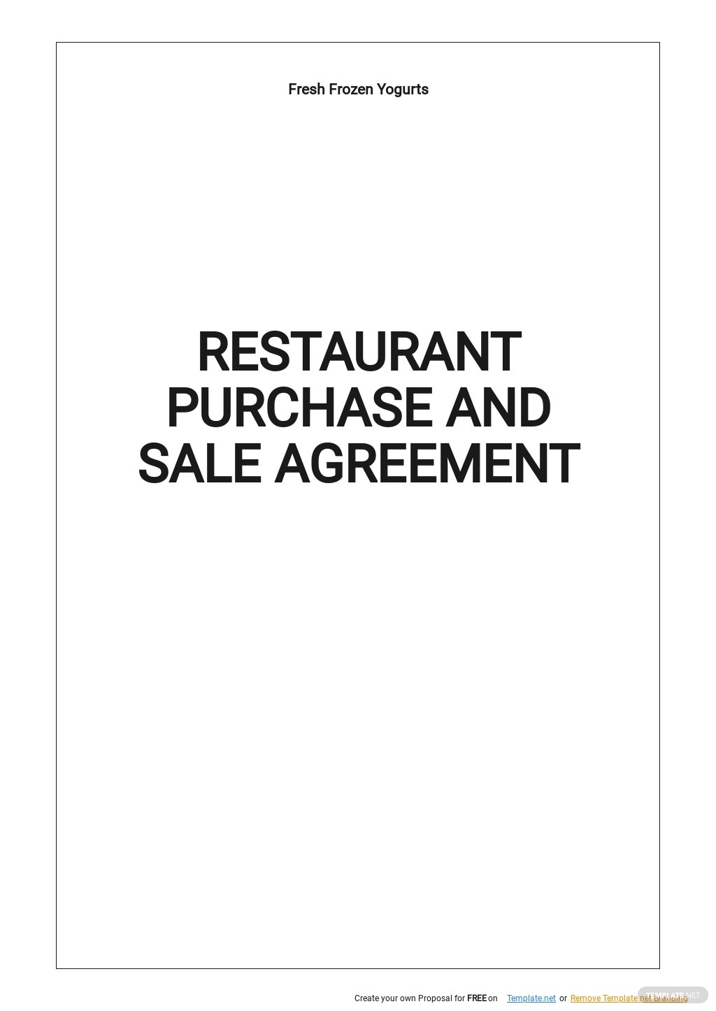 Restaurant Purchase and Sale Agreement Template.jpe