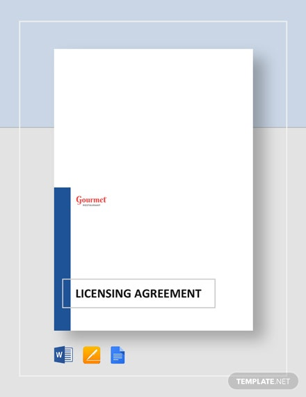 Restaurant Licensing Agreement Template
