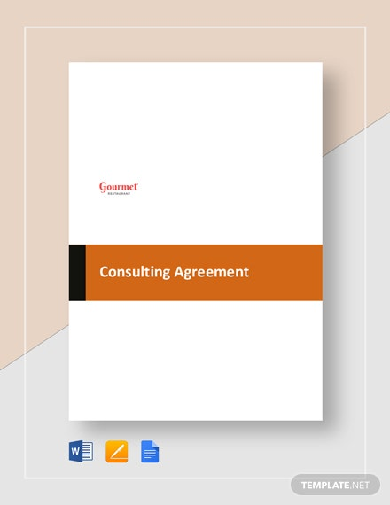 restaurant consulting agreement
