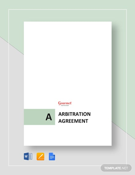 Arbitration Agreement for Restaurant Template