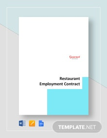Restaurant Employment Contract Template