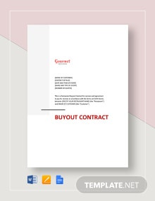 Restaurant Buyout Contract Template