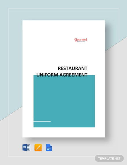 Restaurant Uniform Agreement Template
