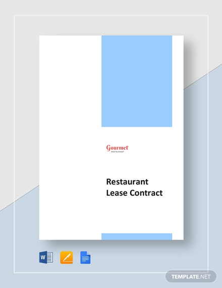 Restaurant Lease Contract