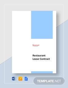 Restaurant Lease Contract Template