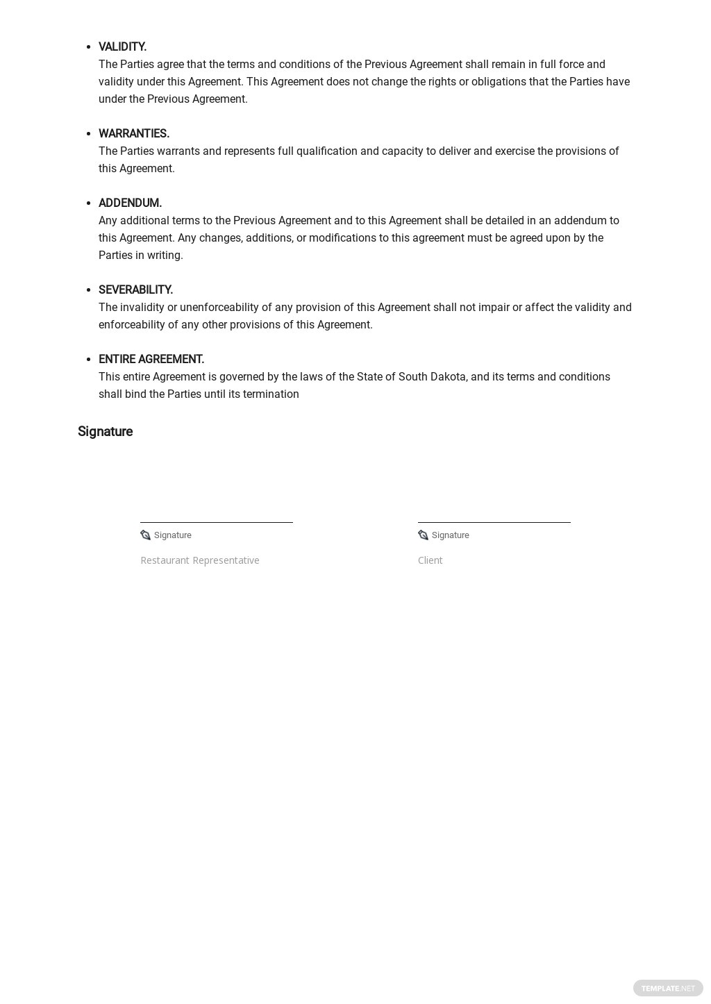 Restaurant Contract Extension Agreement Template 2.jpe