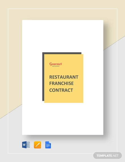 Restaurant Franchise Contract Template