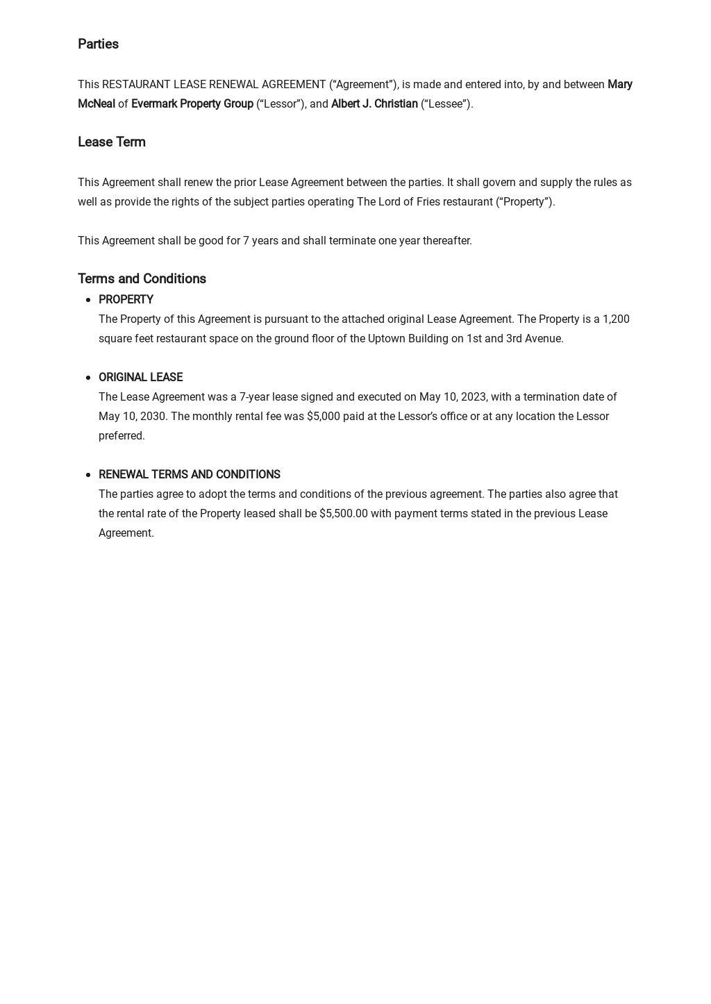 Restaurant Lease Renewal Agreement Template 1.jpe