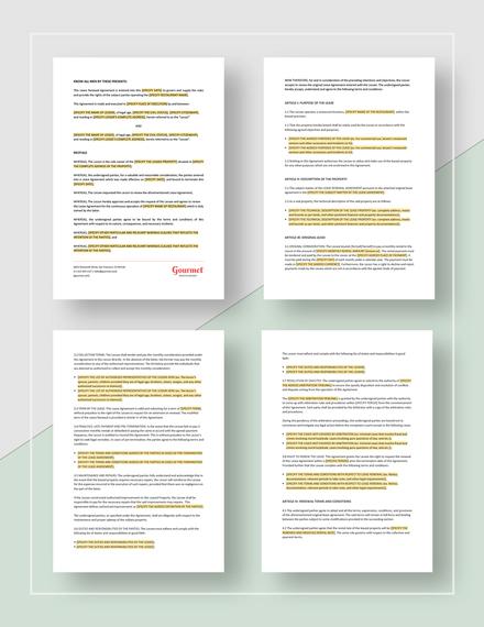 Restaurant Lease Renewal Agreement Template Word Google