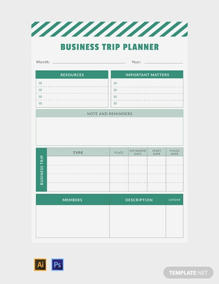 FREE Business Trip Planner Template Download 29 Planners In