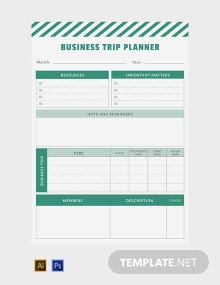 Free Business Trip Planner Template