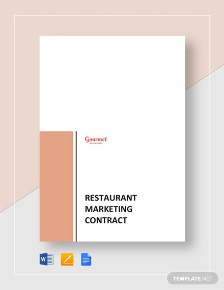 Restaurant Marketing Contract