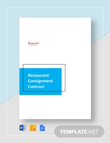 Restaurant Consignment Contract Template