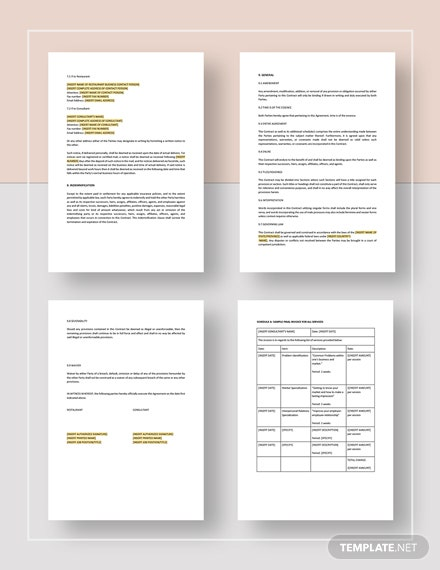 Restaurant Consulting Contract Download