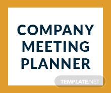 Free Company Meeting Planner Template