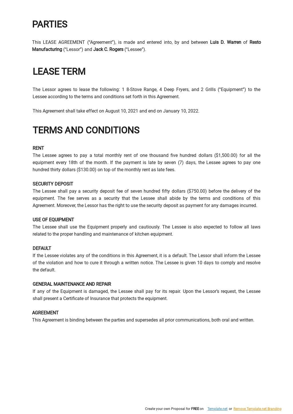 Restaurant Equipment Lease Agreement Template 1.jpe