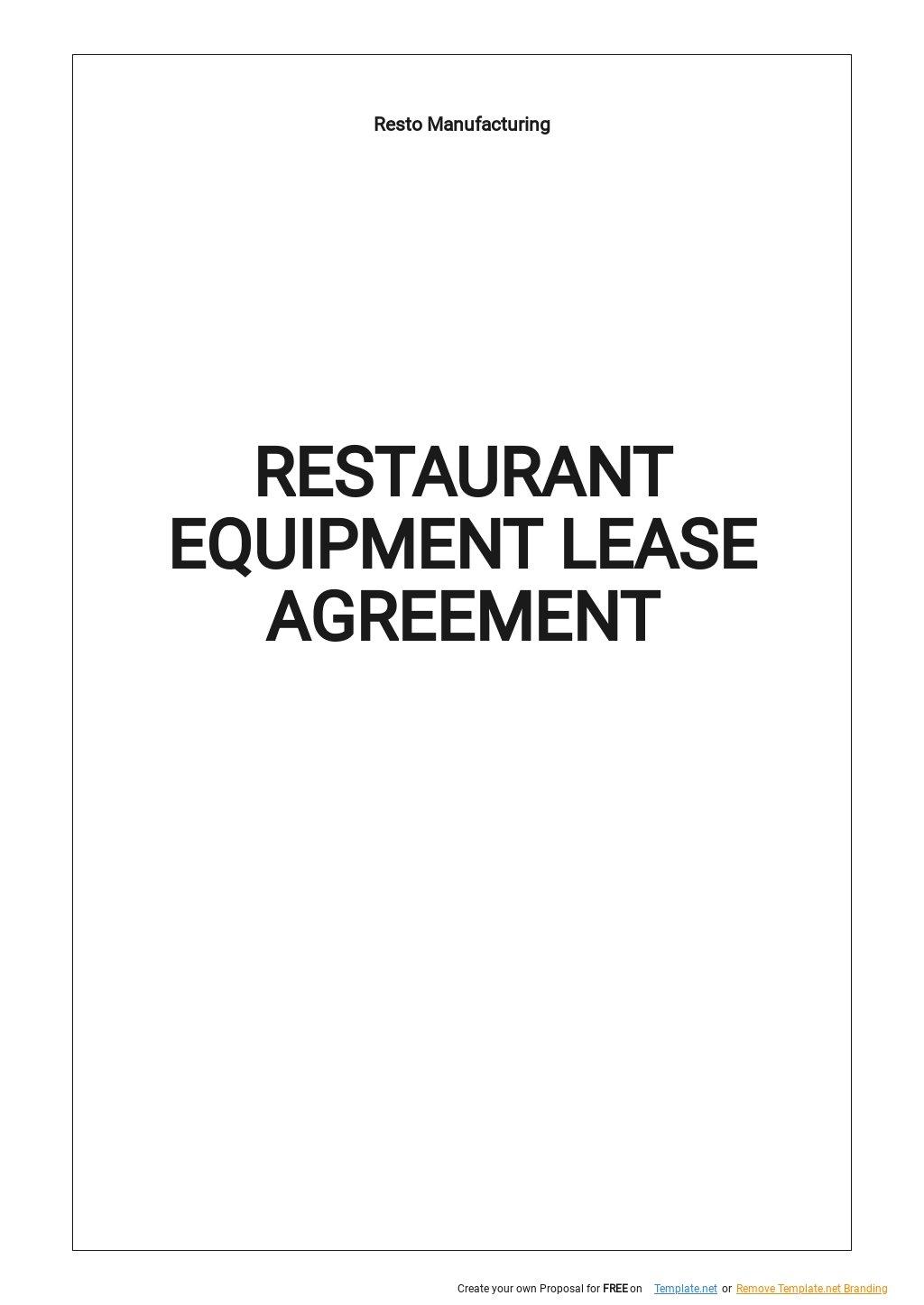 Restaurant Equipment Lease Agreement Template.jpe