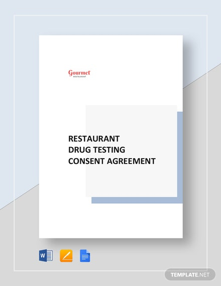 Restaurant Drug Testing Consent Agreement Template