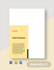 Restaurant Chef Contract Template