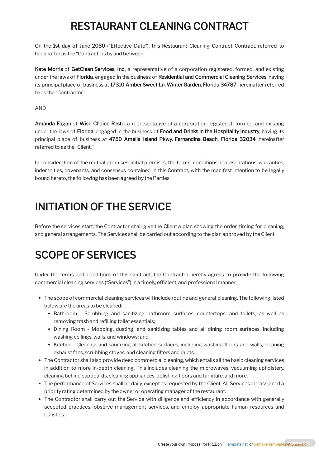 Restaurant Cleaning Contract Template 1.jpe