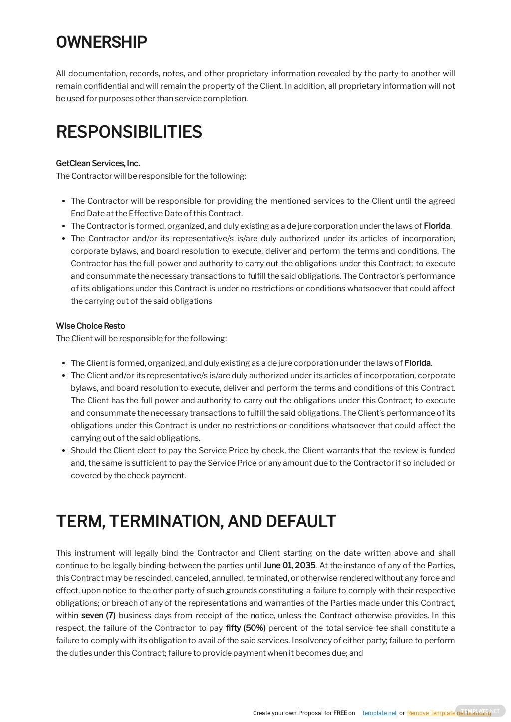 Restaurant Cleaning Contract Template 2.jpe