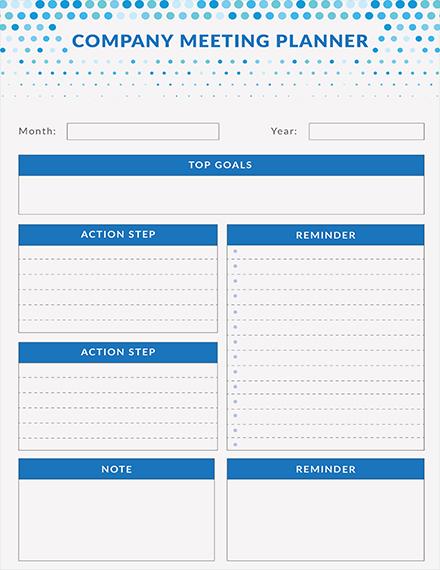 Free Meeting Planner Template