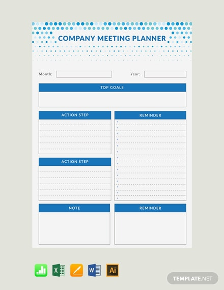 Free Meeting Planner Template