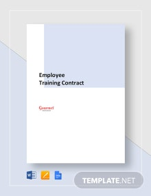 Restaurant Employee Training Contract Template