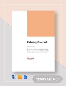 Restaurant Catering Contract Template