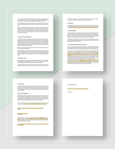 Restaurant Security Contract Download