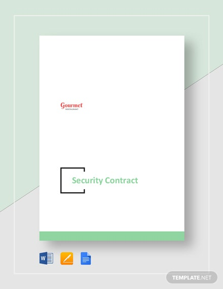 Restaurant Security Contract Template