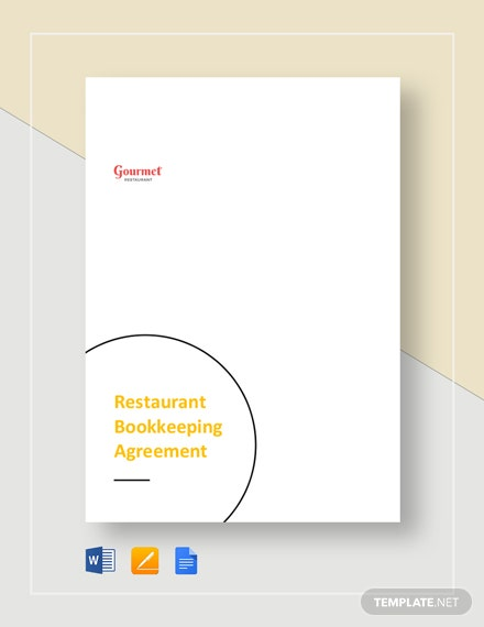Restaurant Bookkeeping Agreement Template