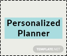 Free Personalized Planner Template